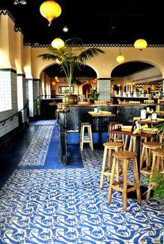 Inside Casa Blanca Restaurant by Jeff Shelton Architect