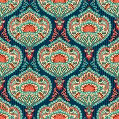 Illustration of Oriental seamless paisley wallpaper pattern vector art, clipart and stock vectors. Oriental Wallpaper, Paisley Wallpaper, Paisley Art, Art Deco Wallpaper, Fabric Wallpaper, Paisley Pattern, Pattern Art, Pattern Wallpaper, Paisley Design