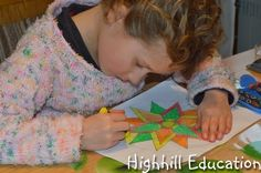 Highhill Homeschool: Constructing a Four Star Mandala Tutorial --- Mandalas are circular symmetric figures that are fun to create and color. When they are created with a compass and straight-edge math and art quickly combine.