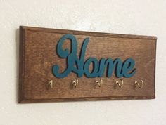 Wooden Key holder Key organizer Key Rack by DesignerDog173 on Etsy