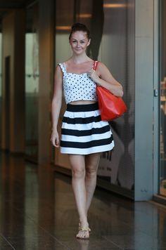 #outfit #summer #style #fashion #päivänasu #look #dress #helsinki #dots #stripes #ralphlauren #bag