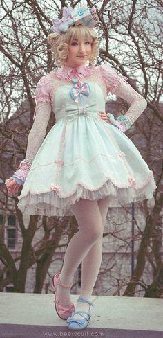 So Pretty http://lookbook.nu/look/5887085-Angelic-Pretty-Pastel-Dress-Forgot-The-Name 3588166_bee-scuit-sweet-lolita-model-angelic-pretty-FTWR-loobook