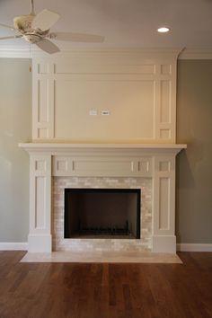 Nice timeless fireplace mantel