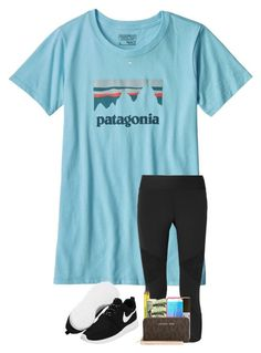 """No school Thursday since our basketball team is going state, and if they win, we will have no school Friday!"" by preppyandsouthern17 ❤ liked on Polyvore featuring Patagonia, NIKE and Kendra Scott"