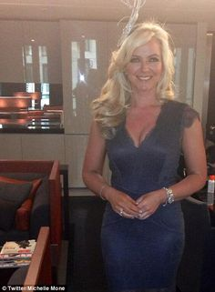 df08ac5c01 Exciting stuff  Ultimo boss Michelle Mone tweeted this photo of her Ascot  ensemble Royal Ascot