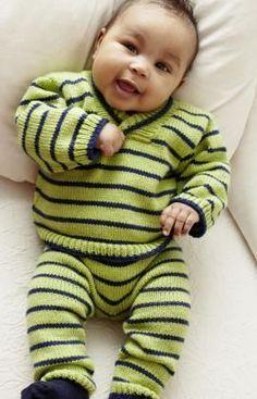 Strickmuster für Baby-Pulli und -Hose