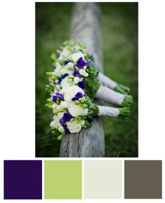 Majestic Purple Wedding Color Palette with light blue in there somewhere. I like this!