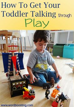Play is one of the best times to help toddlers boost their speech development, because it's perfect for engaging them in fun, motivating interactions, and because children learn so well through pla…