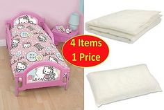 4 in 1 hello #kitty stitch junior cot bed toddler size #bundle for #childrens gir,  View more on the LINK: 	http://www.zeppy.io/product/gb/2/371575488775/