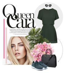 """""""queen"""" by fernandatelles ❤ liked on Polyvore featuring Burberry, Topshop, Nearly Natural, H&M, NIKE and Quay"""