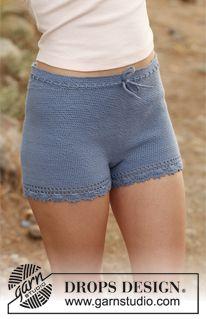 """Summer Fancy - Crochet DROPS shorts in """"Safran"""". Size: S - XXL. - Free pattern by DROPS Design"""