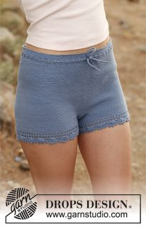 "Crochet DROPS shorts in ""Safran"". Size: S - XXL. ~ DROPS Design"