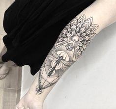 Sacred geometry sleeve by Gabriel Chapel
