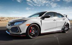 Lataa kuva 4k, Honda Civic Type R, tie, 2017 autot, liikkeen, valkoinen Civic, Honda