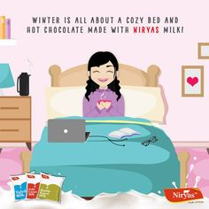 Tell us what kind of person are you: The one who beats the winter chill with a glass of hot Niryas Milk or the one who shivers beneath layers of woolens? ! , Can visit website for detailed info: http://www.niryas.com/products/niryas-full-cream/