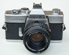I used the Minolta SLR 35mm Camera like this one for my black & white portraits on active children.