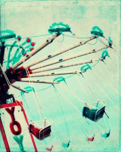 Carnival Ride Photograph Cottage Decor Shabby by susannajarian, $12.00