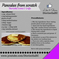 I wish success to all students in the new academic year. I share a recipe to make pancakes from scratch. ‪#‎firtsday‬ ‪#‎backtoschool‬ ‪#‎pancakes‬ ‪#‎breakfast ‪#‎DiorizellaEC‬ ‪#‎PuertoRico‬