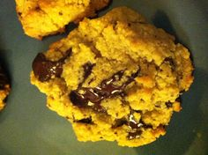 Paleo chocolate chip cookies THE VERY BEST COOKIE! crispy edges, melty chocolate bits.  i made from www.runningtothekitchen.com. I made my changes of course- I chopped up a 60% cocoa organic chocolate bar in a rough chop for my pieces! They would be good with pecans too