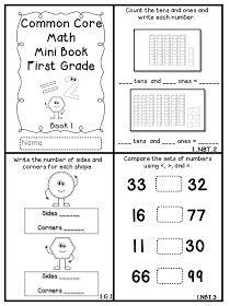 Flying into First Grade: Common Core Math Mini Books FREEBIE!!!