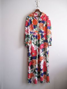 70s Floral Psychedelic Maxi Dress Gown Hippie Boho Glam EUC #ANDORA #BallGown #psychedelic #maxigown #halloweencostume #womensvintage #vintagewedding #Formal