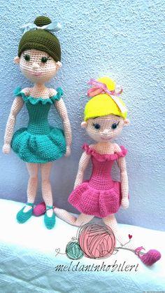 Amigurumi Balerin Kızlar ,  #amigurumibalerinbebek #amigurumikızbebek , amigurumi balerin bebek kiz bebek    Daha fazla model için instagram @meldaninhobileri...