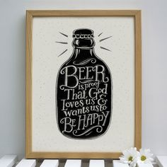 Beer Print | Flickr - Photo Sharing! my husband just said this! Ben Franklin quote