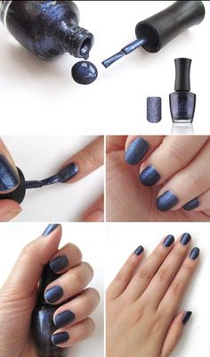 [L CRET] Quick And Dry Coating Nail - Matt Navy - wishtrend