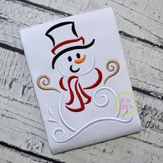 PES format Xmas Snowman Embroidery File