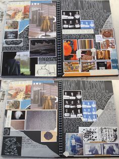 AL Graphics A3 Black Sketchbook Gallery Trip Planning my Visit and Research CSWK Thomas Rotherham College 2018