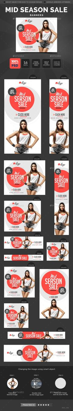 Mid Season Sale Banners Template #design Download: http://graphicriver.net/item/mid-season-sale-banners/11440846?ref=ksioks
