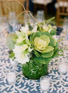 photo: Stacey Hedman #wedding #centerpiece #flowers #newengland #seacoast #newhampshire