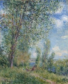 Windy Afternoon in May Artist: Alfred Sisley Completion Date: c.1880 Style: Impressionism Genre: landscape Technique: oil Material: canvas Tags: rivers-and-waterfalls, forests-and-trees