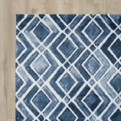 Found it at AllModern - LaMoure Nova Navy Blue/White Area Rug