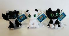 34aa5d8e34f Build a Bear How to Train Your Dragon BABY Dragon Nightlights Set of 3 NWT
