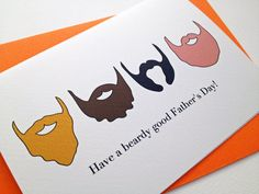 Fathers Day Card  Beard Card by MyFrenchSailor on Etsy, $4.50