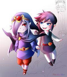 Vaati and Shadow Link chibi