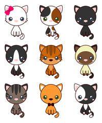 Cute cat cartoon smiling vector art cute cat cartoon vector image woolen with cute cats vector