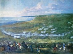 Battle of Halmstad 1676 during the Scanian War