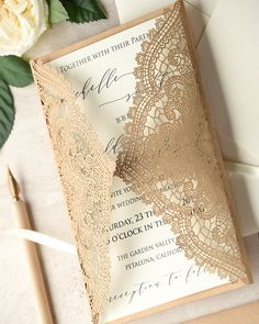WEDDING INVITATIONS lasercut/engraved 01-lCN-z