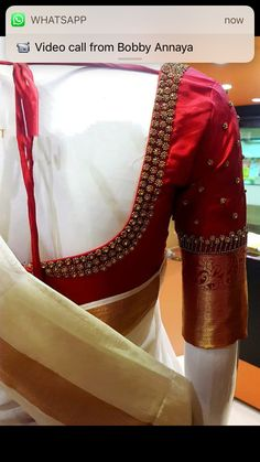 Blouse Designs: Blouse designs imagesAre you searching for the best blouse design images to get beautiful ideas that how to make different designs?So here we have tons of collections of blouse designs different types of patterns and. Kerala Saree Blouse Designs, Wedding Saree Blouse Designs, Best Blouse Designs, Simple Blouse Designs, Stylish Blouse Design, Blouse Neck Designs, Blouse Patterns, Blouse Designs Embroidery, Hand Embroidery