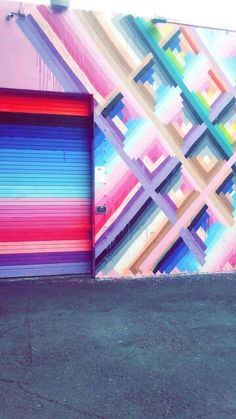 IFTTT wynwood walls - Travel Miami - Ideas of Travel in Miami Graffiti Wall, Wall Murals, Wall Art, Murals Street Art, South Beach Miami, Rainbow Art, Wall Colors, Color Inspiration, Art Inspo