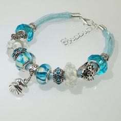 Hey, I found this really awesome Etsy listing at https://www.etsy.com/listing/237413043/european-charm-bracelet-handmade-aqua