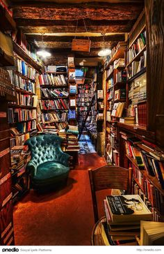 Bucket Liste: 50 Ideen für das Glück im Jahr 2018 Best Picture For building a House For Your Taste You are looking for something, and it is going to tell you exactly Home Library Design, Dream Library, Cozy Home Library, Shakespeare And Company Paris, Santorini, Best Places In Europe, Home Libraries, School Photography, Cozy Place