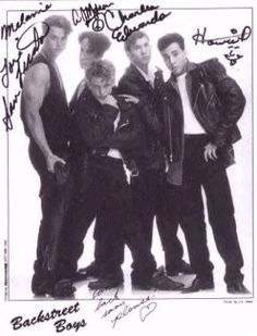 Did you know the original formation of the Backstreet Boys did not include Kevin or Brian? Here, in 1993, is a rare photograph of two original members of the band, Charles Edwards and Sam Licata. Sam left to pursue a solo career and Charles left due to vocal issues just months after joining.