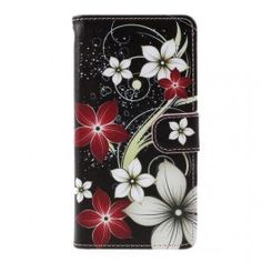 Pattern Printing Wallet Leather Mobile Phone Case for Samsung Galaxy - Flowers Pattern Best Iphone, Iphone Se, Mobiles, Android, Wallet Pattern, Leather Cover, Pretty Flowers, Leather Wallet, Cell Phone Accessories