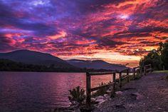 Flaming Lake - OGQ Backgrounds HD