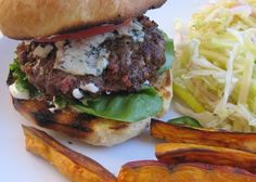 Fresh Ground Bacon Burger- yes that is bacon ground into the burger.  Sooooo good.  Add blue cheese and forget about it.