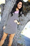 EVERLY: The Zig To My Zag Dress: Black love love love #shophopes