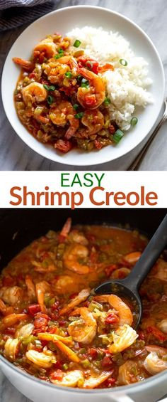A traditional Southern dish made by cooking shrimp in an easy creole sauce. Shrimp Creole is a meal; perfect for busy weeknights. Southern Dishes, Southern Recipes, Southern Meals, Cajun Dishes, Shrimp Dishes, Slow Cooker Recipes, Crockpot Recipes, Cooking Recipes, Seafood Recipes